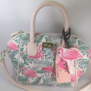 Betsey Johnson flamingo purse